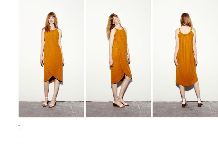 Double layered gathered mustard dress with overlap detail.