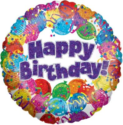 "Happy Birthday 18"" Foil Balloon  Price: £ 4.99    Order and send beautiful #flowers online with Bomboniera Flowers. http://www.bombonieraflowers.co.uk"