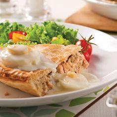 Pâté au saumon et sauce aux oeufs - Recettes - Cuisine et nutrition - Pratico Pratique