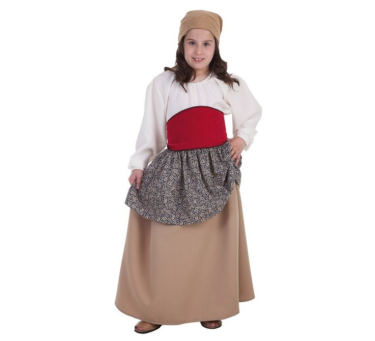 Disfraz de Campesina, agricultora, labradora, aldeana o labriega medieval para…