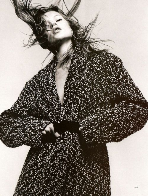 """""""Go Crazy"""". Kate Moss photographed by David Sims for Harper's Bazaar, September 1997"""