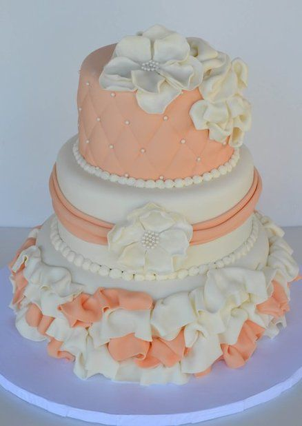 Peach Champagne & White Theme Wedding - by Sweet Creations by Sophie ...