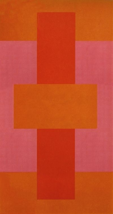 American artist Ad Reinhardt (1913-1967): Red Abstract, 1952. Oil on canvas. Yale University Art Gallery