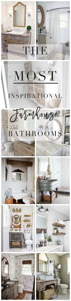 The Most Inspirational Farmhouse Bathrooms | Lynzy & Co.