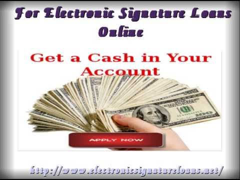 Electronic Signature Loans is one of the best option to manage your urgent needs. It fulfill your entire needs and can be easily avail only by signing an activation letter.