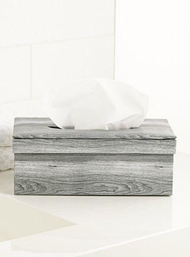 Boîte papier mouchoirs imprimé aspect bois - Tendance néo-scandinave   SS2014   Simons