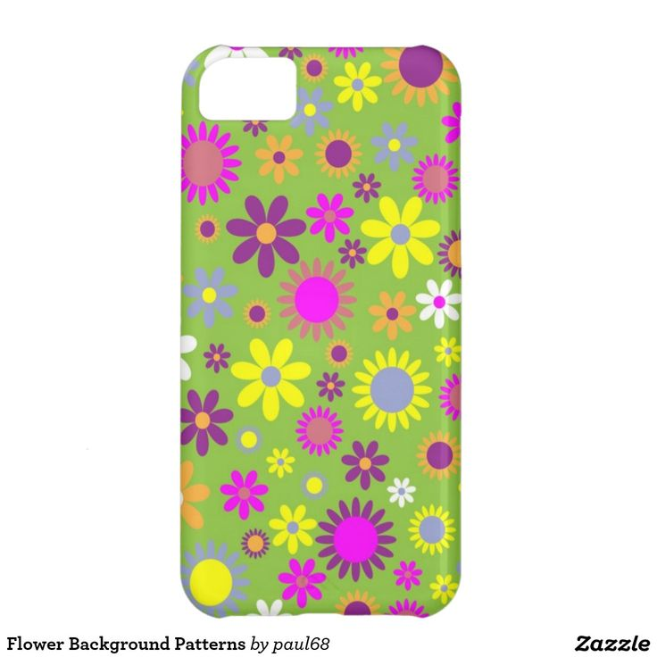 Flower Background Patterns Cover For iPhone 5C