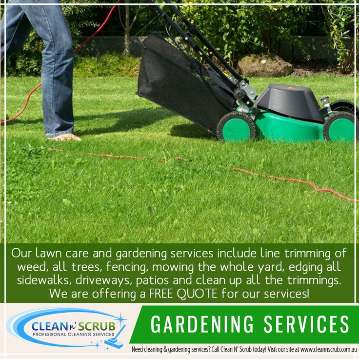 Our lawn care and gardening services include line trimming of weed, all trees, fencing, mowing the whole yard, edging all sidewalks, driveways, patios and clean up all the trimmings.  We are a fully licensed company that you can trust for a complete maintenance of your garden and lawns.   Visit our website at www.CleanNScrub.com.au to view our services.  #gardening #mowing