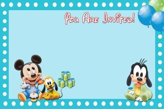 Invitaciones De Baby Shower De Mickey Mouse Bebe Para Editar