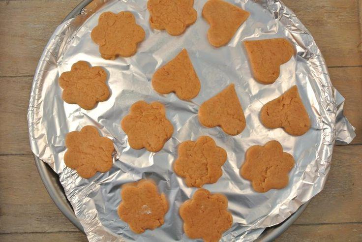 Zelfgemaakte honden koekjes.