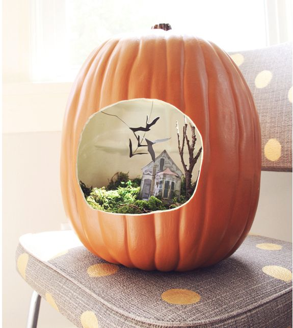 pumpkin diorama  18 Fall Party Ideas, DIYs + Printables!