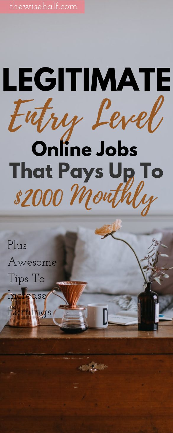 15 Entry Level Work From Home Jobs. Requires Little To No Experience – The Wise Half | Work From Home Jobs | Work At Home | Travel | Style