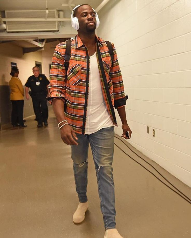draymond green in dp tank and sand chelseas //  [ styled by vick michel ]