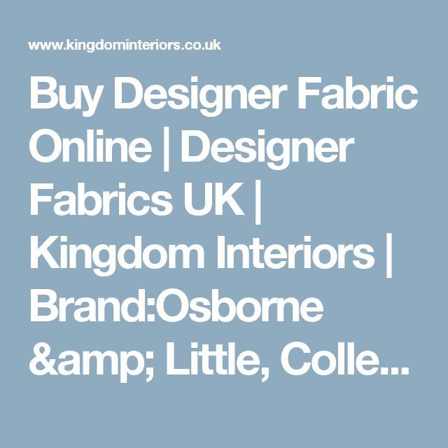 Buy Designer Fabric Online | Designer Fabrics UK | Kingdom Interiors | Brand:Osborne & Little, Collection:Dhow by Osborne & Little