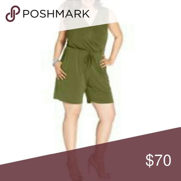 """Coming Soon NY Collection Romper Price will be $35 once available  Avocado  95% polyester 5% spandex Approx measurements Waist across 18"""" Bust across 23"""" Inseam 7.75"""" Rise 14"""" NY Collection Pants Jumpsuits & Rompers"""