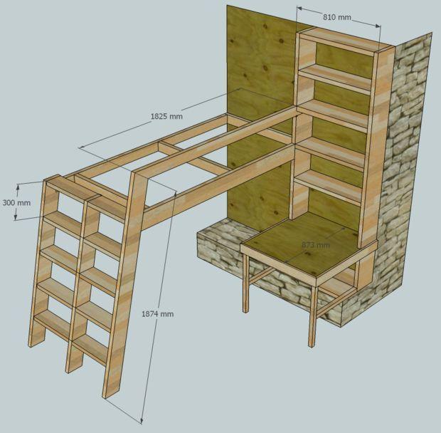Loft Beds With Bookshelf Ladders Bookshelf Ladder Lofts