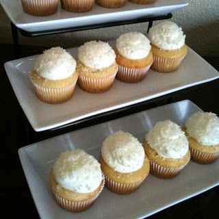 Haupia (coconut) cupcakes from Hawaii!!! Great reviews!!!  Must try!