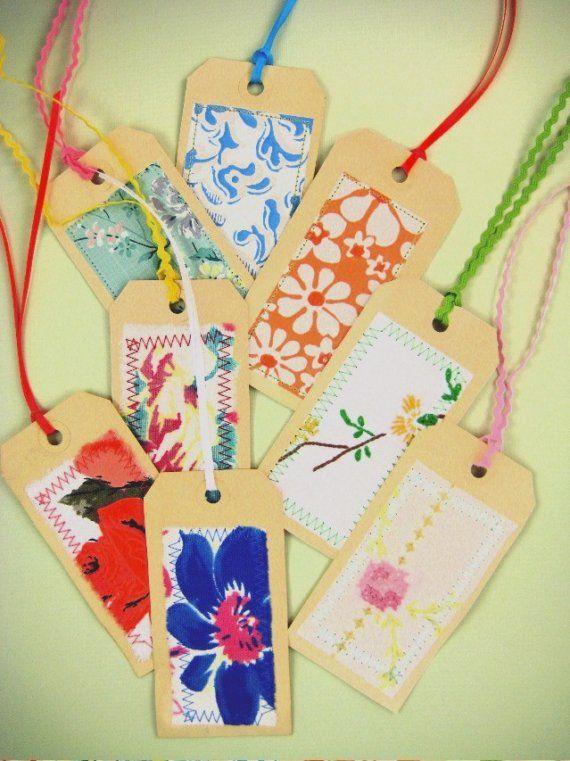 sewn scraps; baby ric rac ties