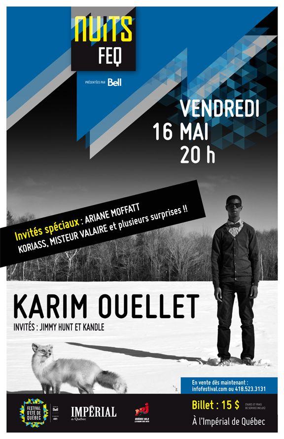 CONCOURS: #NuitsFEQ x Les Rockalouves! Gagne ta paire de billets pour aller voir Karim Ouellet, Ariane Moffatt, Misteur Valaire, Jimmy Hunt et Kandle le 16 mai prochain à l'Impérial de Québec! Bonne chance! :)