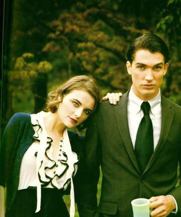 Twin Peaks fashion story in Bust Magazine 2008. Photographs by Gabrielle Revere.