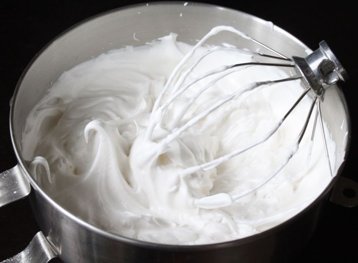 whipped cream frosting for angel food cake. I will never buy whipped cream again