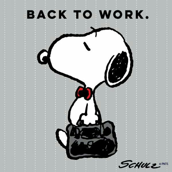 Snoopy Back to work