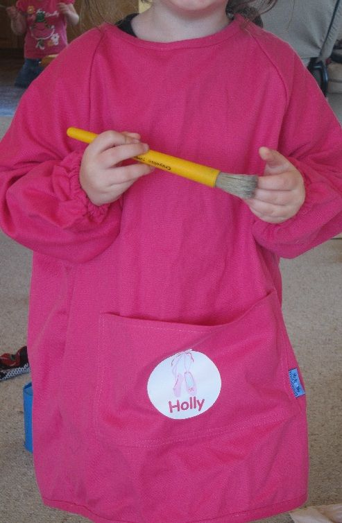Ansel could use a nice big art smock. Size 3T or so. Stuck On You Art Smocks for Kids