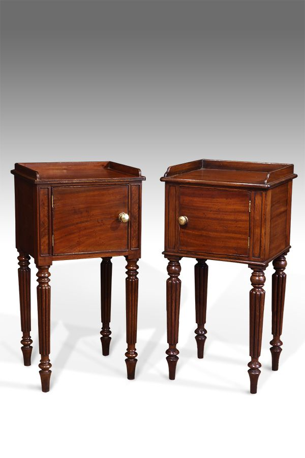 Pair Of Pot Cupboards Pair Of Georgian Bedside Tables Gillows