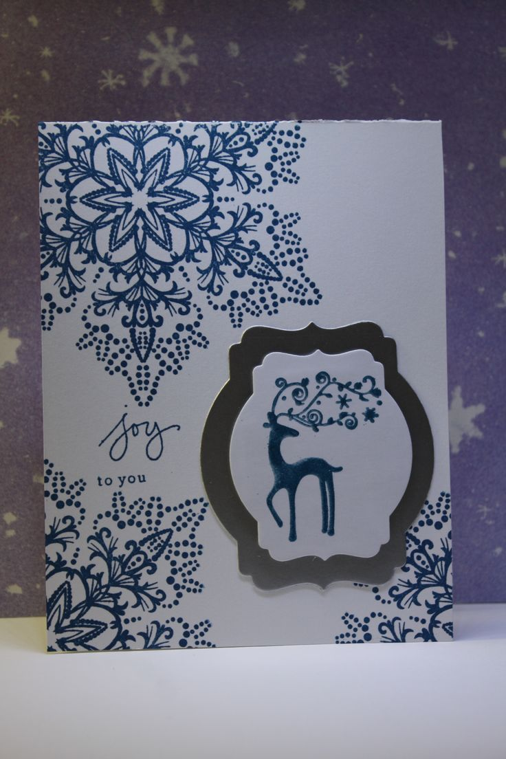 Hero arts dotted snowflake and Stampin up best of