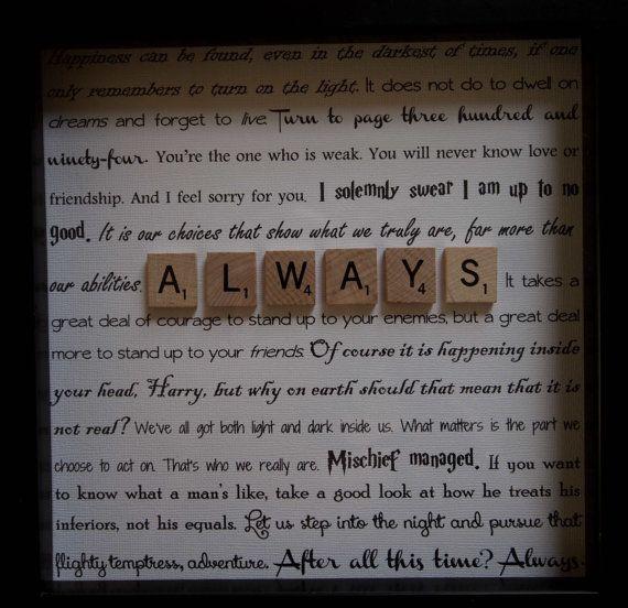 « Dumbledore regardait voler loin et comme son argenté lueur fanée, il rentra à Snape, et ses yeux étaient pleins de larmes. Après tout ce temps? «