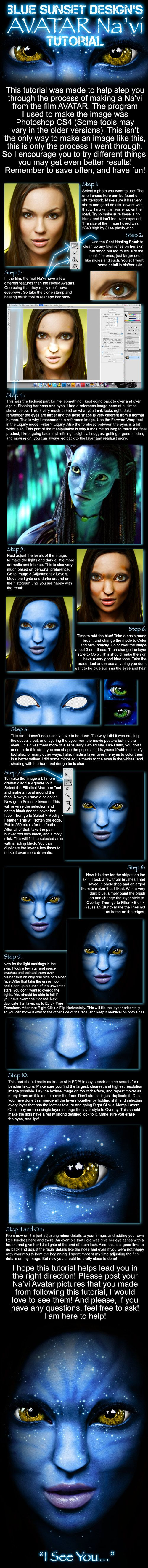 How to make an AVATAR Na'vi by *MikeMonaghanPhoto on deviantART
