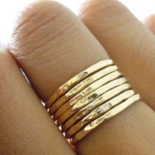 gold stack ring, melt old gold jewelry down for this.