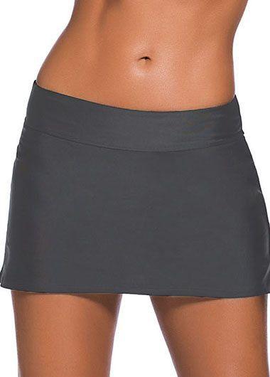 Low Waist Grey Mini Swimwear Pantskirt on sale only US$23.92 now, buy cheap Low Waist Grey Mini Swimwear Pantskirt at liligal.com