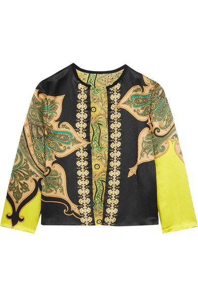Etro - Reversible Printed Crinkled-satin Jacket - Black - IT