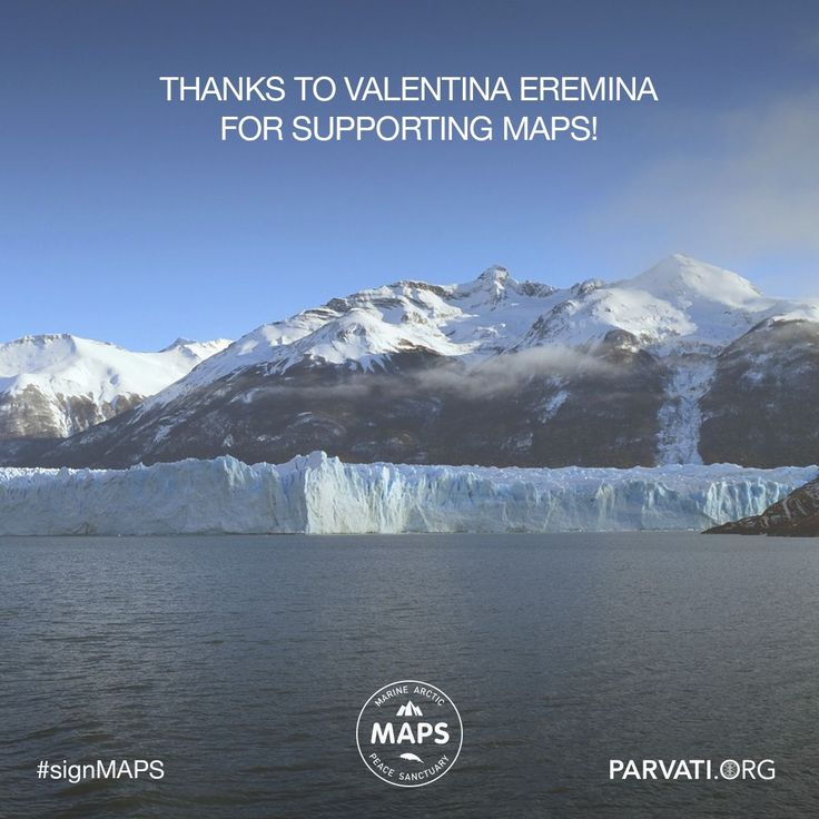 Gratitude to Valentina Eremina for supporting the Marine Arctic Peace Sanctuary at Parvati.org!   Since our inception two years ago, Parvati.org has been self-funded and 100% volunteer-driven. Our goal is to realize MAPS: the Marine Arctic Peace Sanctuary by the end of 2018. The planet can't wait. If you have not already, please sign and share the MAPS petition!