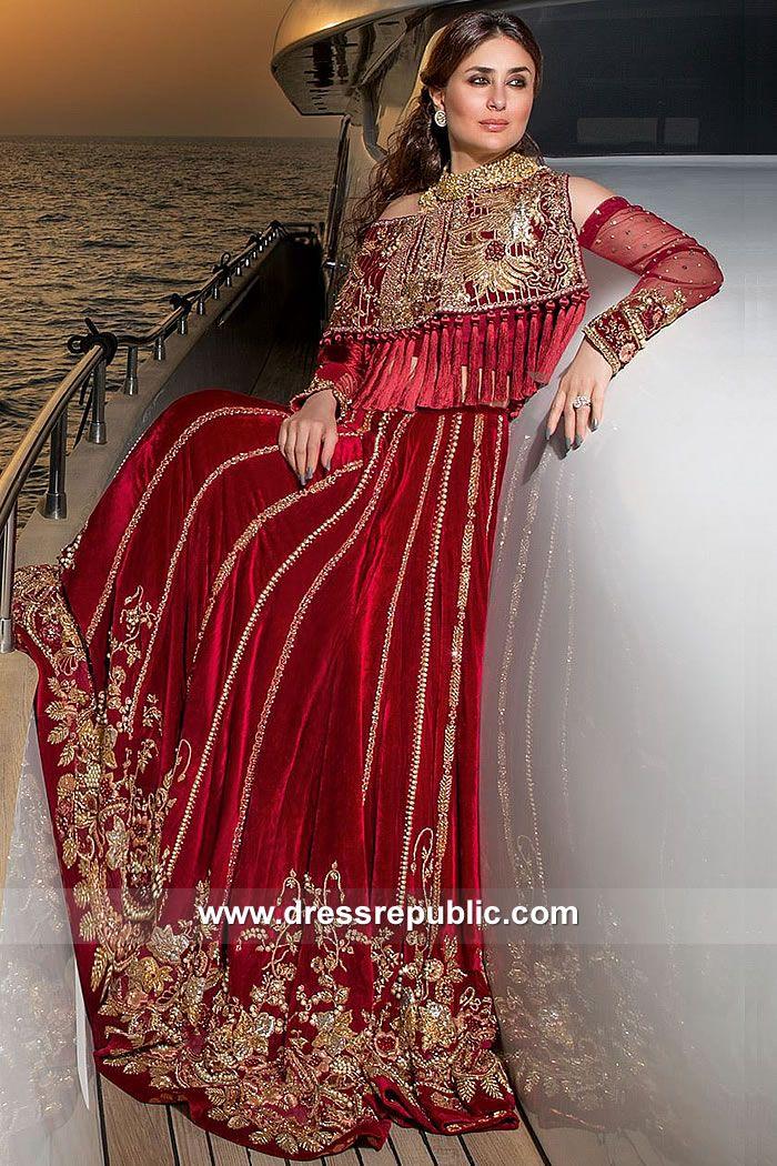 e7ab3cfaa6 Deep Red Kareena in 2019 | Bridal Dresses | Velvet lehnga, Bridal dresses  2017, Fashion