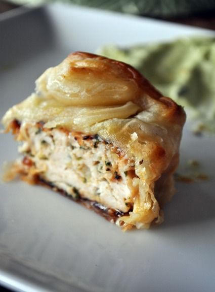 Puff Pastry wrapped Turkey Burger 'Sliders'