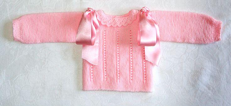 Jerseys de punto para beb s de 0 a 3 meses hechos a mano - Patrones jerseys de punto hechos a mano ...