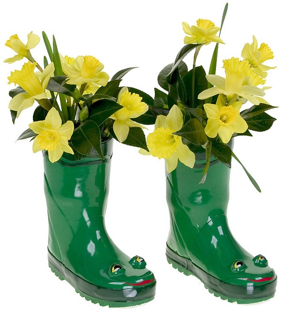 Daffodils in Rain Boots by Flower Factor, via Flickr