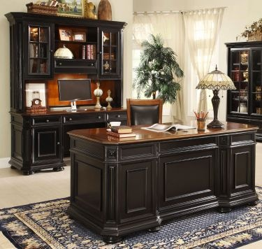 3-pc Allegro Executive Home Office Desk Set