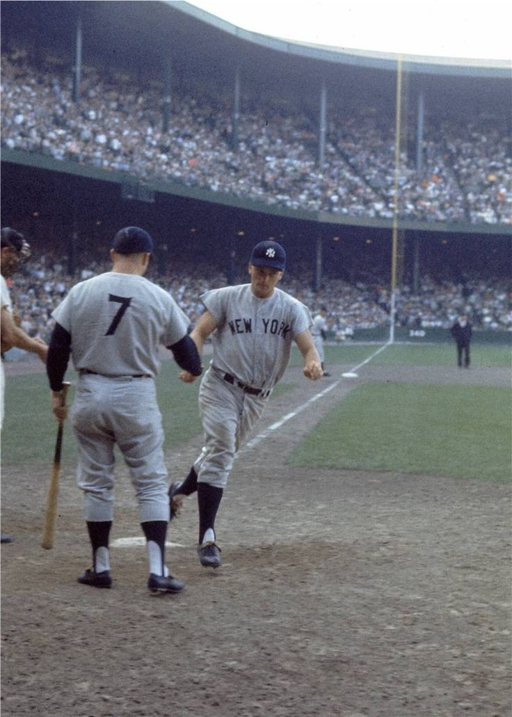 Roger Maris and Mickey Mantle (On the road at Tiger Stadium, Detroit)