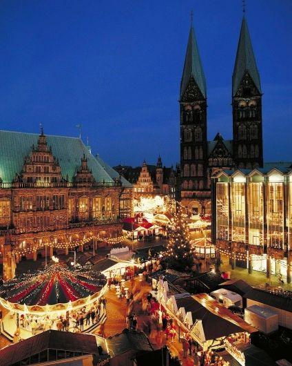 Weihnachtsmarkt in Bremen, Germany