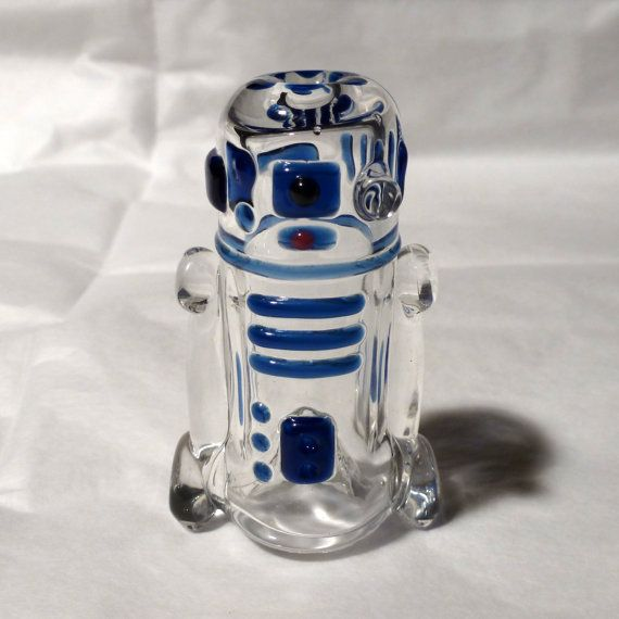Glass R2D2 Art Pipe by LeoStudios on Etsy, $60.00