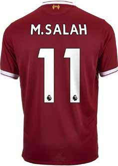 New Balance M. Salah Liverpool Home Jersey 2017-18 | SoccerMaster.com