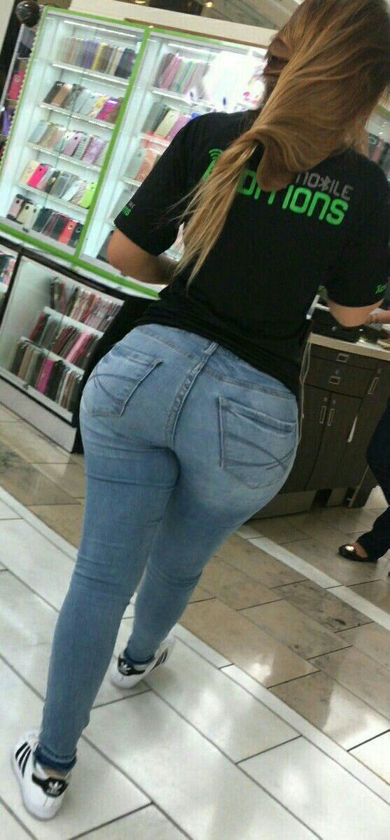 Hot milf candid jeans butt part 1