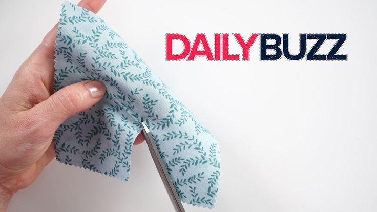 Got dull fabric scissors? Try this quick trick & snip away!