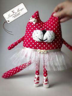 Ну очень большой балет!!! Текстильный интерьерный котик.