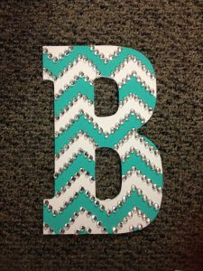 Going to do this for my daughters room to go with her Blue and white theme!