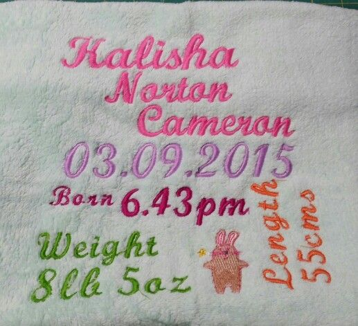 Personalised baby blankeys