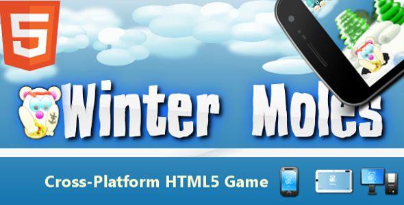 Winter Moles HD - classic whack-a-mole HTML5 arcade game.
